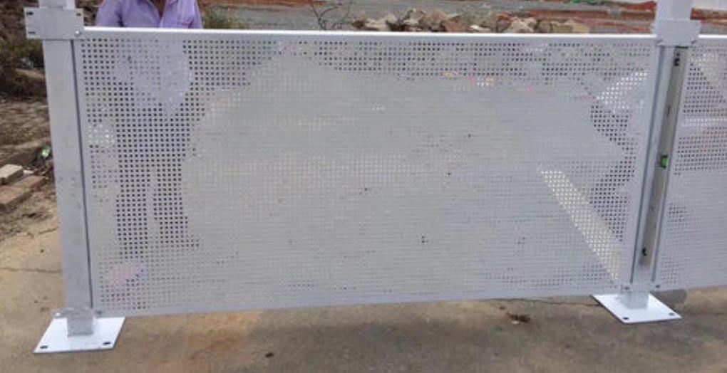 白色冲孔板|木纹冲孔板
