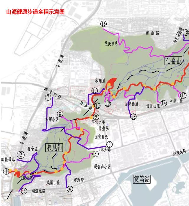 山海健康步道—园林景观步道平台